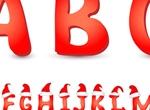 Red Christmas Hat Alphabet Font