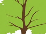 Simple Green Tree Vector Illustration