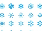25 Perfect Vector Snowflakes Set