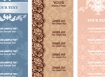 3 Elegant Vintage Vector Menu Templates Set
