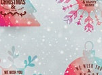 4 Colorful Christmas Vector Elements Set