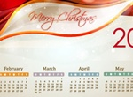 Glowing Bokeh Christmas 2014 Calendar