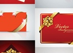 Ribbons & Bows Vector Holiday Cards