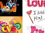 5 Unique Abstract Love Vectors