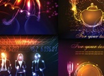 Illuminated Neon Vector Objects