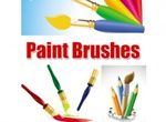 Fresh Paint Brushes And Pencils Vector