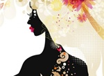 Sexy Fashionable Beauty Silhouette Vector