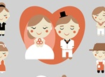 13 Cartoon Style Couples Vector Set