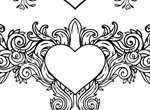 Valentine Heart Floral Vector Decals