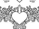 Valentine Heart Floral Vector Decals