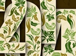 2014 Nature Design Vector Font Pattern