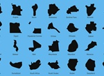 Country Map Shapes Vector Icons Pack