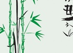 Japanese Bamboo Ink Vector Illustration