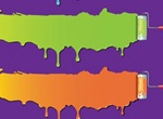 Colorful Paint Swipes Vector Graphics