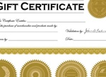Vector Gift Certificate And Stamps