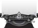 Antique Vector Typewriter Illustration
