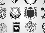 12 Heraldic Elements Logo Design Set