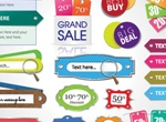 20+ Beautiful Color Labels Vector Pack