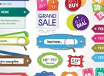 15+ Beautiful Color Labels Vector Pack