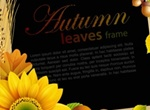 Autumn Colors Floral Frame Vector