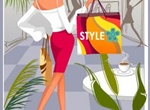 Fashion Woman Shopper Vector Illustration