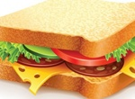 Delicious Sandwich Vector Graphic