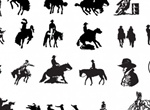 18 Western Country Cowboy Vector Silhouettes