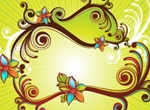 Abstract Floral Vector Spring Illustration