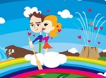 Crazy Love Rainbow Heaven Vector Art