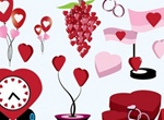 All About Love Vector Heart Graphics Set