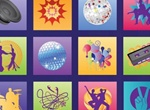 12 Music Dance Vector Graphics Set