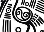 Mayan Crane Art Design Vector