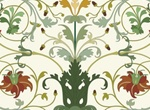 Lovely Vector Floral Scroll Pattern Ornament