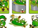 Animated Peas Characters Vector Graphics