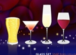 Party Glass Set Vector Design
