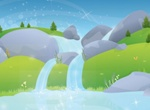 Pure Water Well Spring Vector Graphic