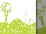 Unique Style Vector Swirl Tree Background Art