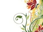 Fashion Floral Background Vector Illustration