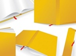 Quality Vector Yellow Book Different Angles