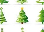 9 Abstract Christmas Tree Vector Graphics