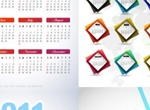 4 Beautiful 2011 Calendars In Vector