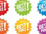 6 Color Variation Circular Discount Tag