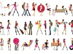 35 Fashion Glamour Girls Vector Graphics Pack