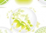 3D Eco Green Nature Orb Shapes Set