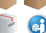 Pixel Perfect Boxes & Symbols Vector