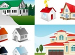 Set Of Houses Homes Real Estate Vector Graphics