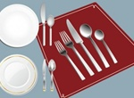 Elegant Dinner Place Setting Vector Graphic