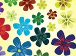 Cheerful Summer Flowers Vector Graphics