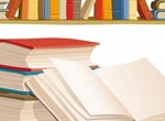 Bookshelf And Books Vector Graphics