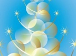 Glossy Golden Abstract Vector Christmas Tree